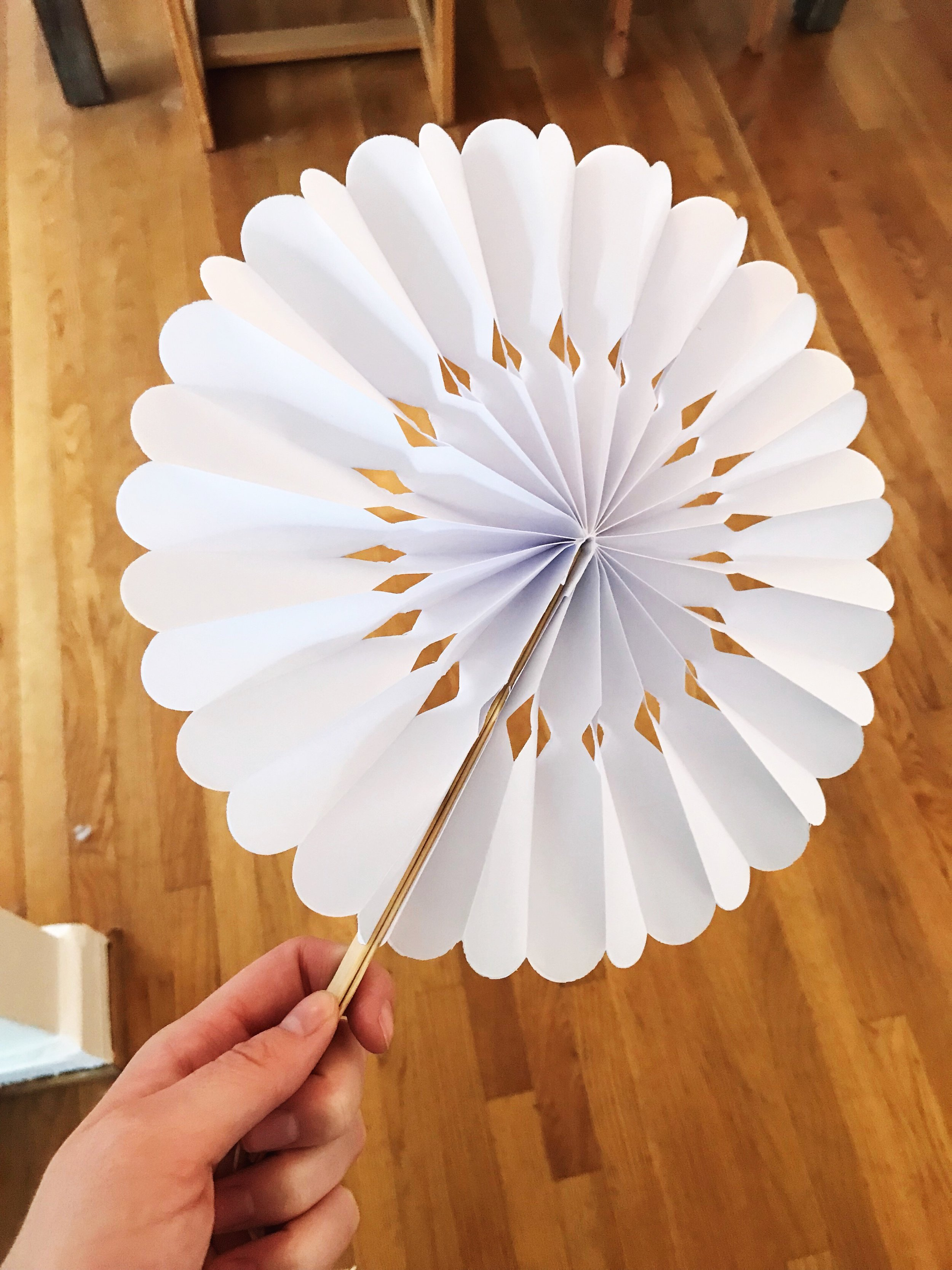 Getting a couple hundred of these cute fans in the mail to keep our guests cool during our outdoor ceremony!