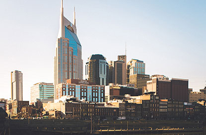 Nashville skyline photo via the  Nashville Tourism Bureau