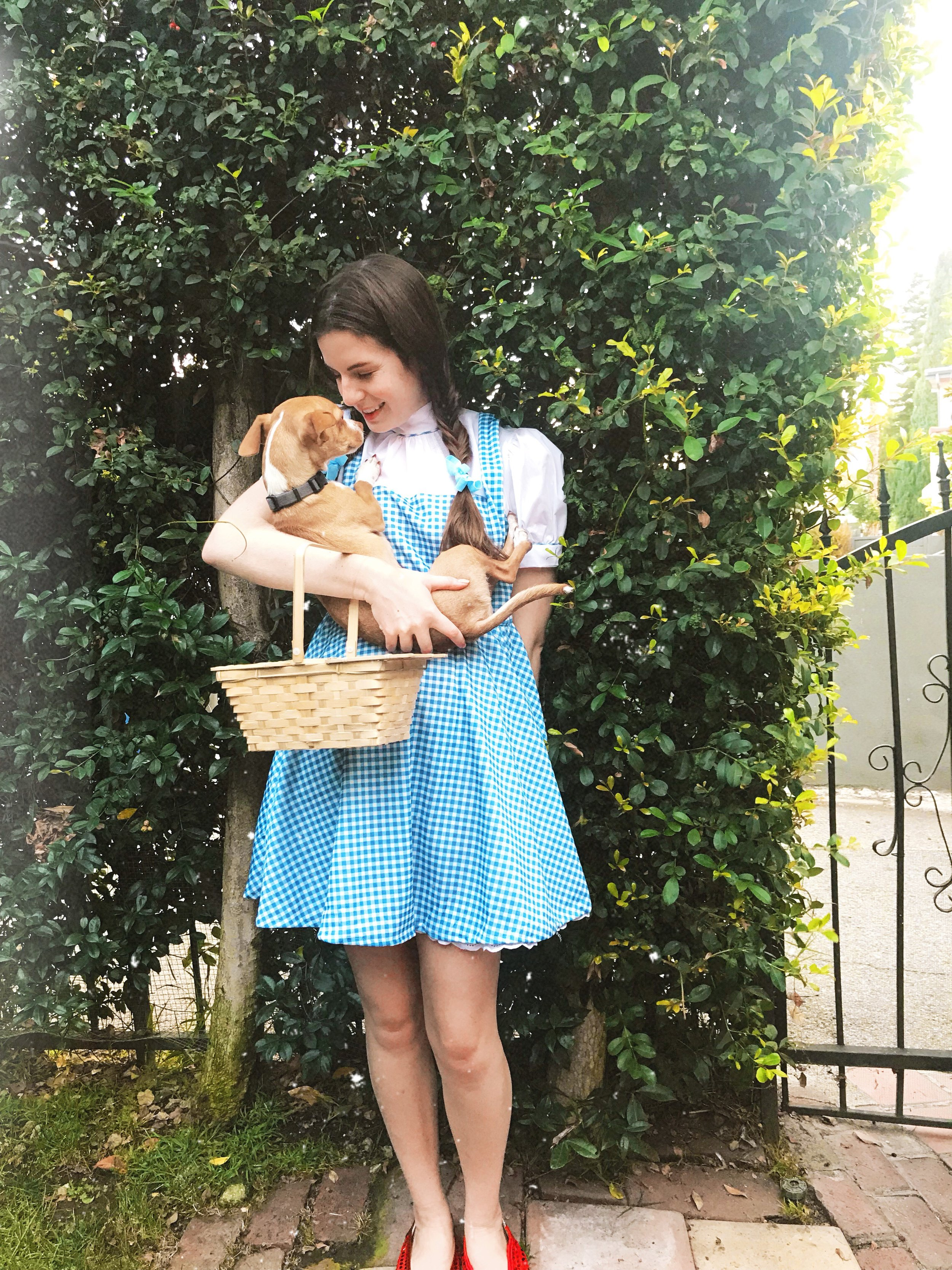 Bean and I dressed as Toto and Dorothy