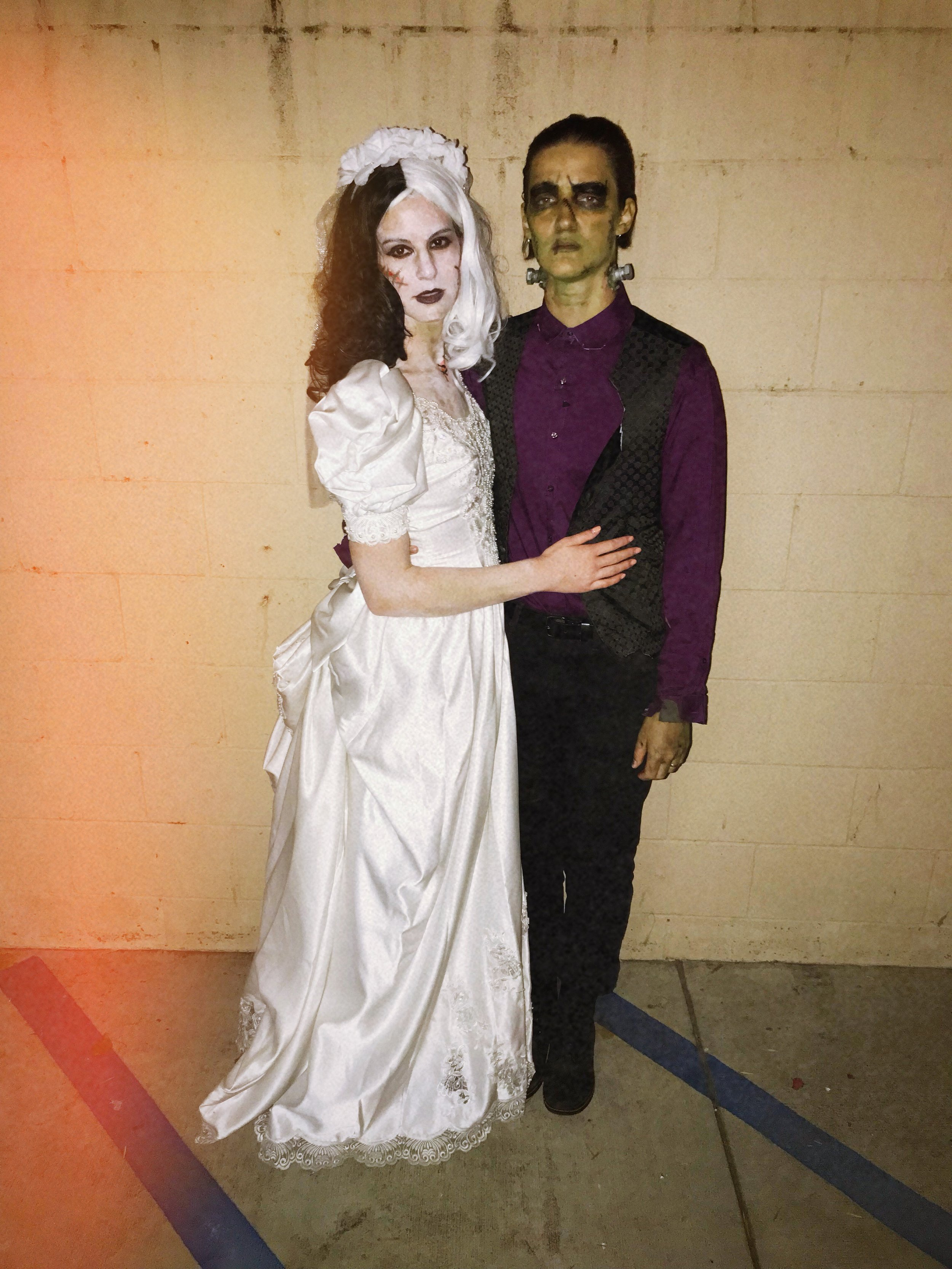 And for a friend's party, Grace and I went as Frankenstein and Bride of Frankenstein (perfect newlywed costume, I think!)