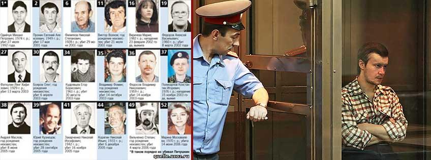 The Chessboard killer's victims