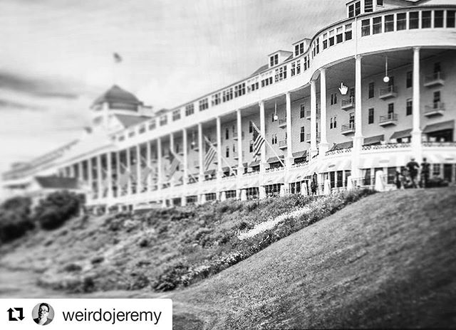 #Repost @weirdojeremy ・・・ The Grand Hotel in Mackinac Island... one of the paranormal hot spots discussed in this week's slightly-drunken episode of @weirdosandwine