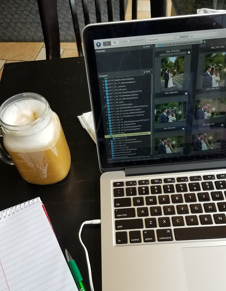 Love sipping Honey Nutmeg Lattes while I edit photos at Addis Cafe