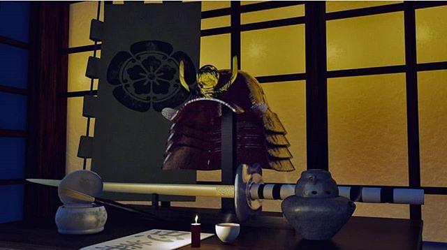 Vanitas render of a samurai's desk by @gcgdesigns (our event planner!) for 3rd year studio.  #c4d#cinema4d#3d#3dmodeling#3dmodel#physicalrender#rendering#render#digitaldesign #design#c4dart#art#digitalart#renders #modeling#samurai#swords#vanitas#student #studio#lighting#studentart#artstudent #substancepainter#octane #njitsiggraph #studentproject #studentwork  #leadusgio
