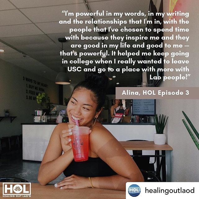 Feeling more empowered than ever 💫 Posted @withrepost • @healingoutlaod We can't get enough of this brilliant young 🌟 in our LAO diasporic 🇱🇦 community!!!! Check out Alina's episode 3 today & don't forget to leave a review ✅📝🙏🏽!!   How you living in your power?! ✊🏽👊🏽🗣🤩🧐 . . . . . . #QuestionOfTheDay #ThoughtOfTheDay  #AlinaAmkhavong  #HEALINGOUTLAOD  #LaoAmerican #lao #laos #laosangeles #laotian #LAOPOWER #LAODANDPROUD #laoAF #creativewriter #inspiration #inspiredaily #healing #HOLepisode3