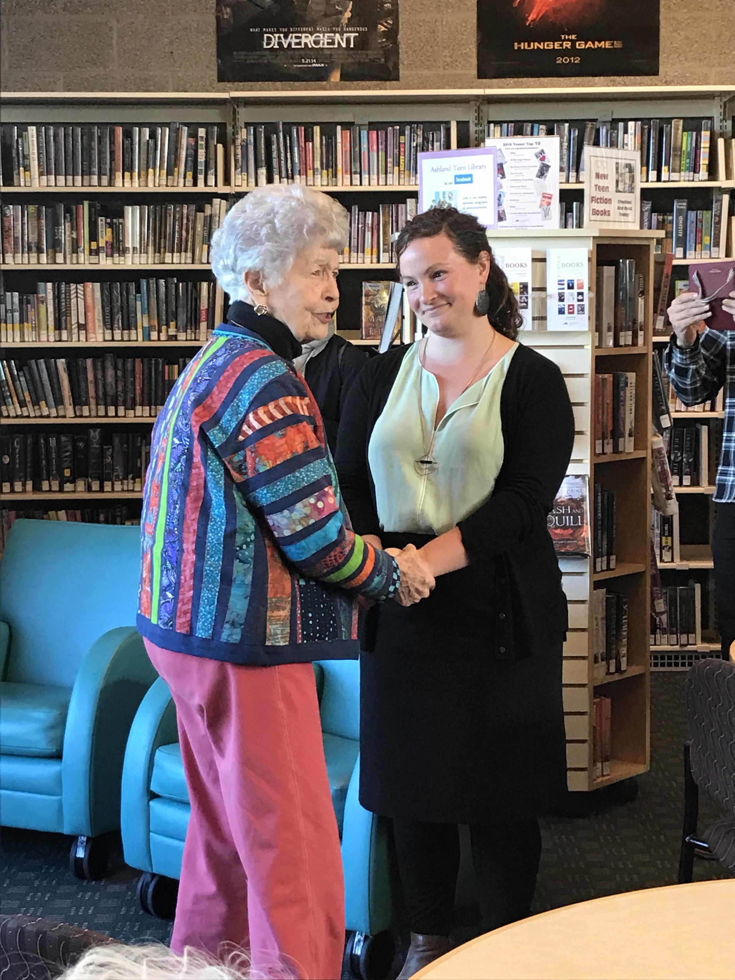 Mary Mastain and Amy Drake, Foundation Executive Director