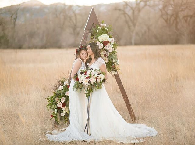 Celebrating love! ❤ I am so grateful to have worked with such an amazing team of creative vendors on this shoot! We put all of our creative energies together and the outcome was incredible. . Photography: @erinnicolephotography Planning:@mountainsideevents Venue: @ristcanyoninn Florals: @wildblossomsstudio Catering:@juliyjuanmx  Cake:@sweetibakery  Furniture rentals: @wallflower_rentals_decor Rentals: @flexxproductions  Stationary: @theprintcafefoco Dresses: @encorebridalfortcollins Hair: @beautybybriannajoy  Makeup: @rebeckabeauty Models: @tylerma11, @hannah_elle  #wedding #colorado #winterwedding #coloradowedding #mountainsideevents #loveislove #samesexwedding #twobrides #brides #weddingdresses #thatsdarling #ristcanyoninn #trianglearch #flowers #outdoorwedding #mountainwedding #coloradoweddingphotographer #coloradoweddingvenue #shesaidyes #ido #fortcollins #fortcollinswedding #weddingplanner #coloradoweddingplanner #justengaged #weddingdiy #ristcanyoninn #weddinginpiration #lgbtwedding #lgbt