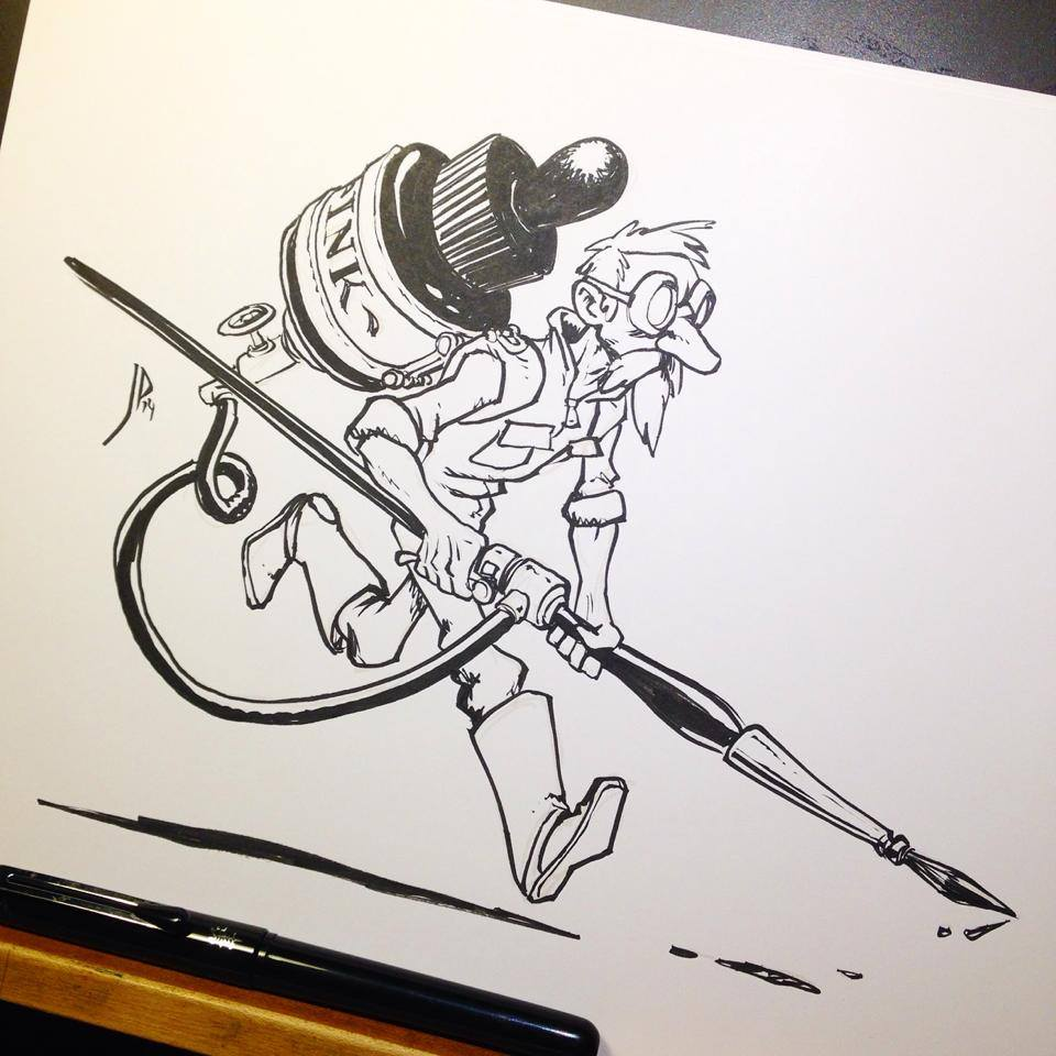 Inktober on Facebook - Like to get updates and inspiring ink artwork in your newsfeed.