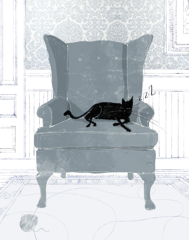 Cat Nap. Illustration by Lee White.