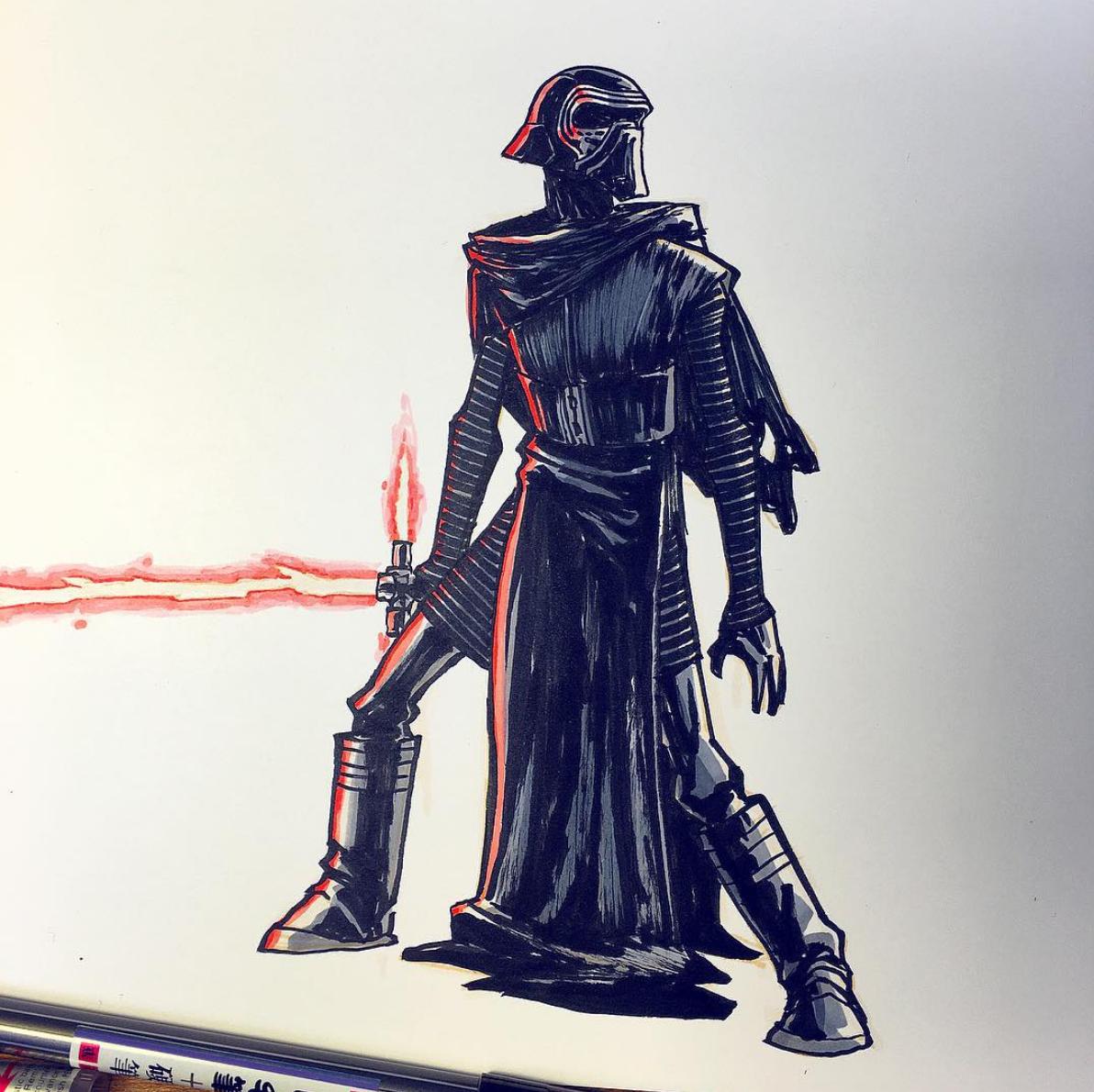 Star Wars Fan Art of Kylo Ren by Jake Parker.png