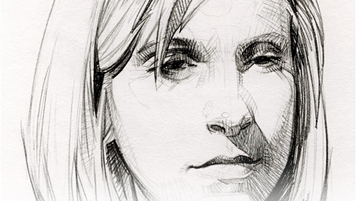 6 - Drawing a Portrait. Drawing portraits is really hard, but Dave Malan makes it look easy.