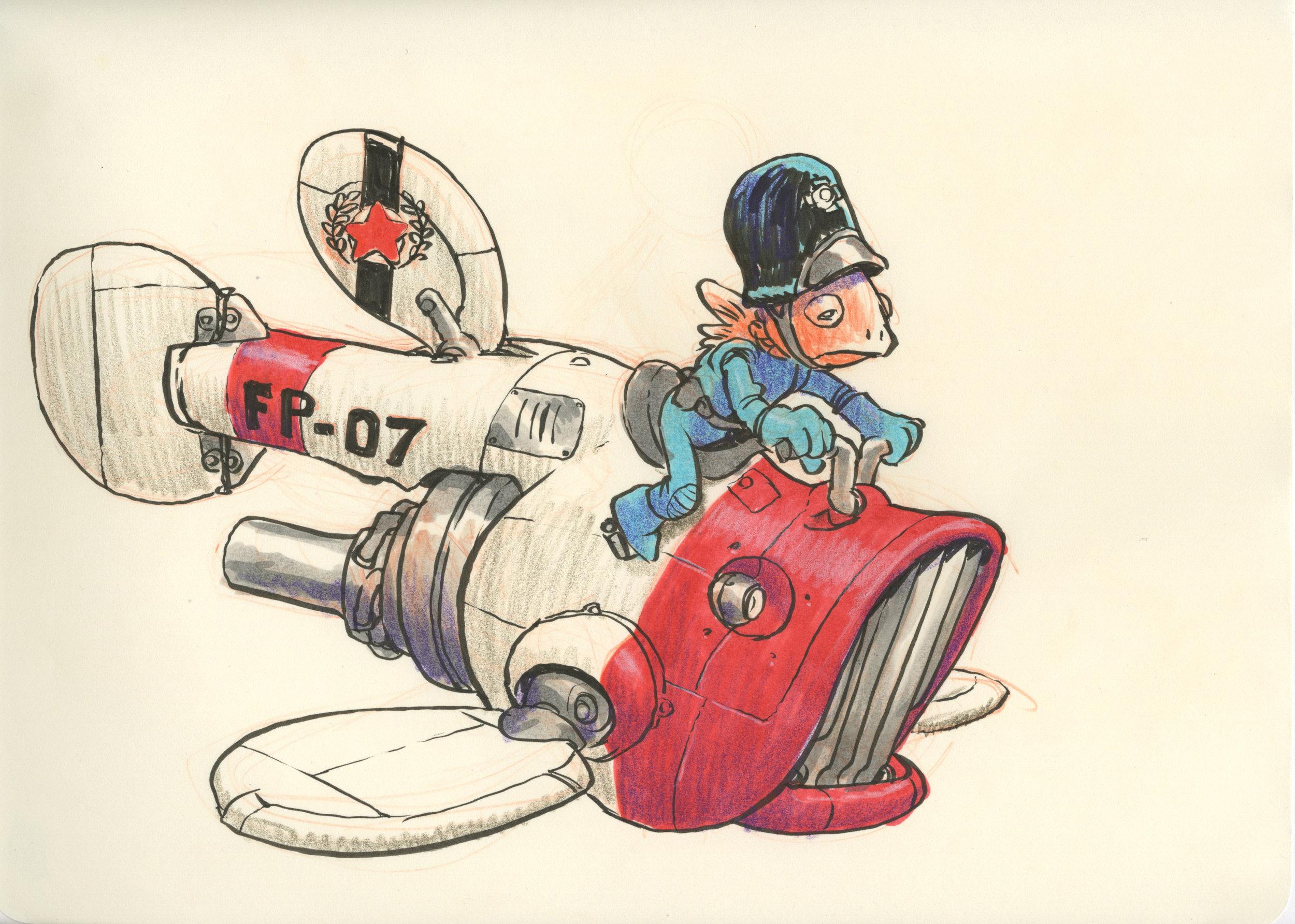 Calling all cars! Illustration by Jake Parker.