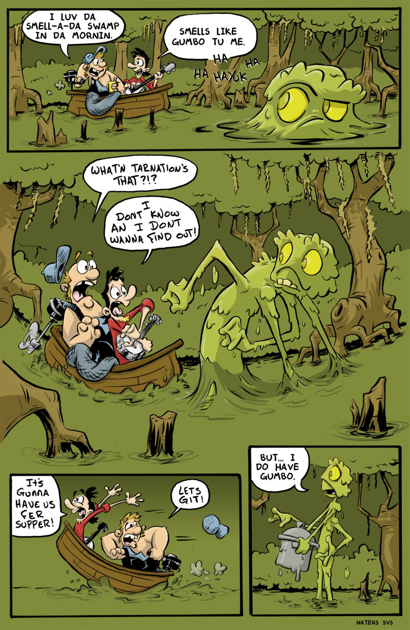 """Naters Calderone - """"Great comic page layout, character acting, and punchline. You're good at comics!"""""""