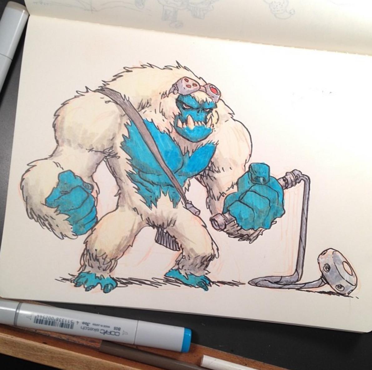 Misunderstood monster….needs a hug. Art by Jake Parker!