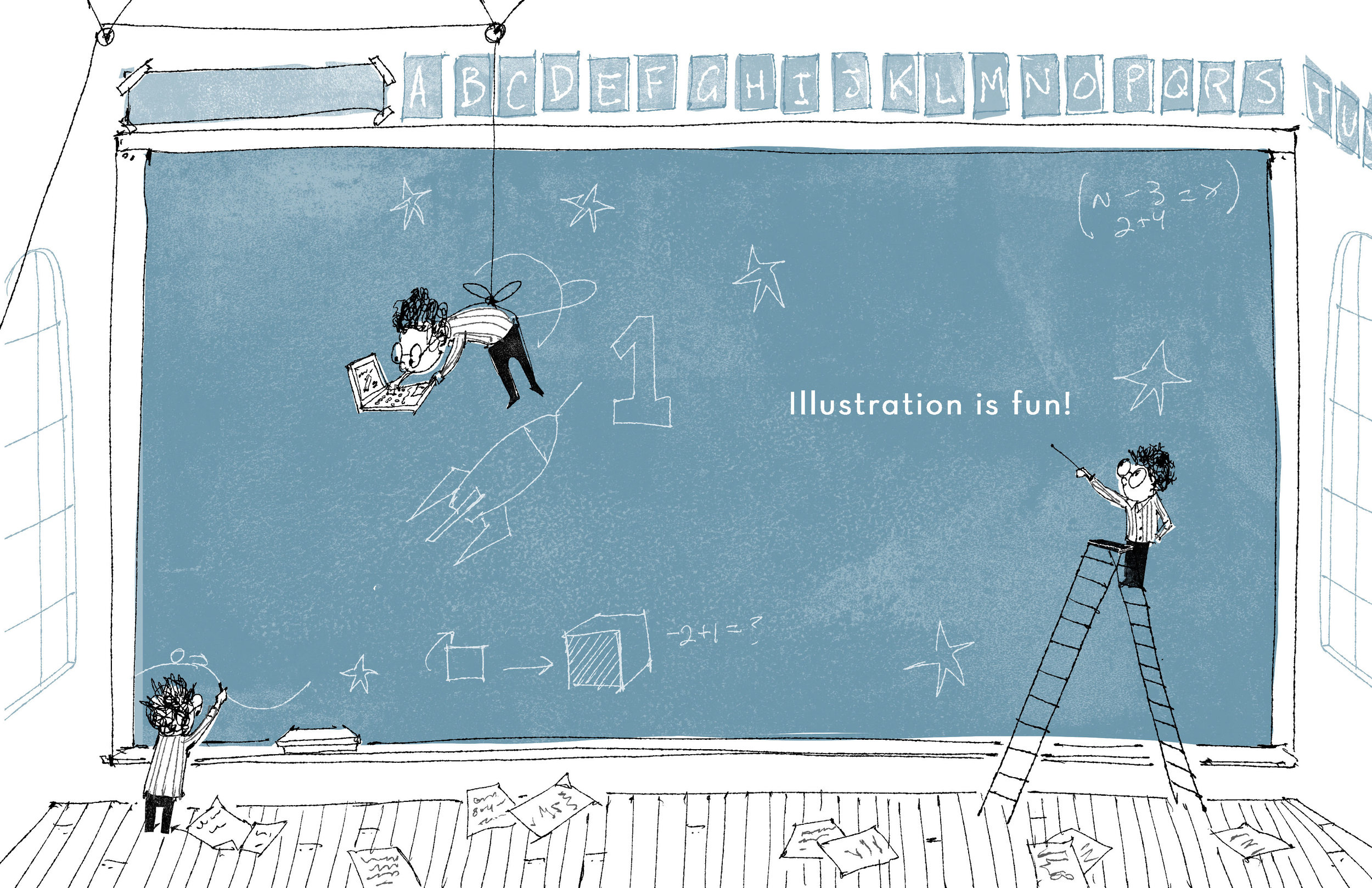 L is for Learning! Art by Lee White.