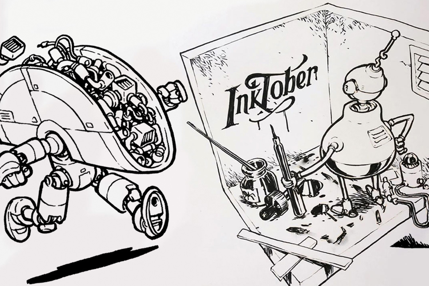 Inking Practice - Practice makes perfect! Put in some inking mileage with Jake Parker, the creator of Inktober.