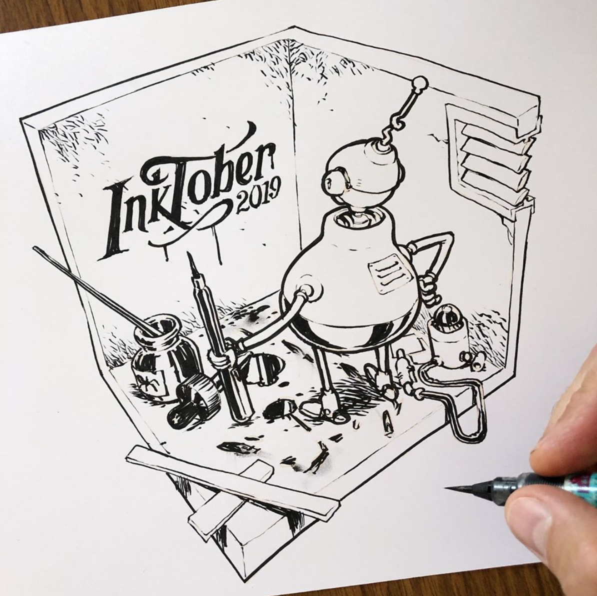 Art by Jake Parker, founder of Inktober.