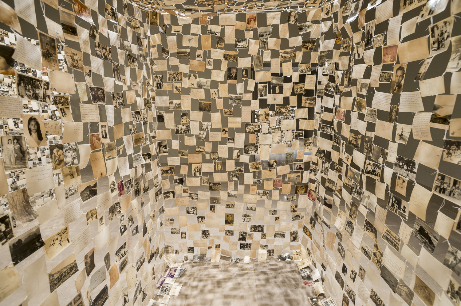 "This image is from the artist Dinh Q. Lê's installation  ""Crossing the Farther Shore"",  which exhibited at Rice Gallery in Houston, TX in 2014."