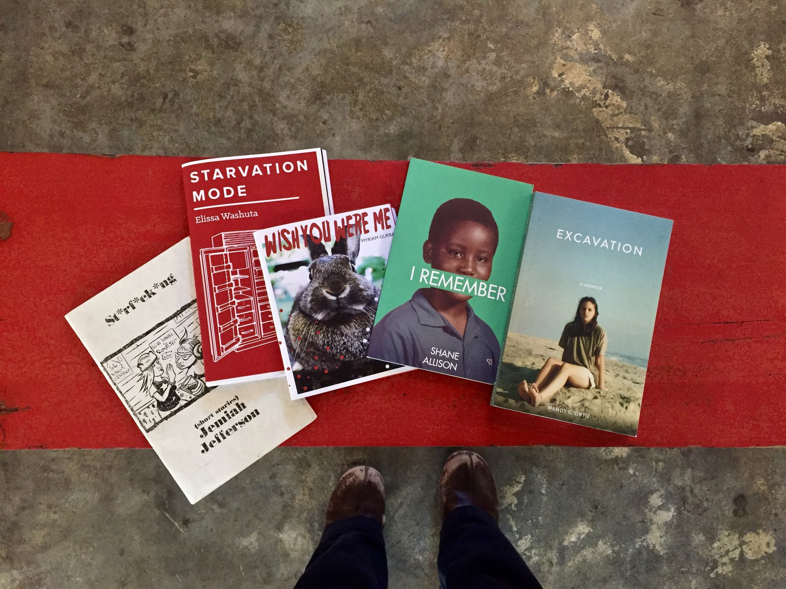 We also received book donations from local publisher Kevin Sampsell, from his  Future Tense Books  catalog, a Portland-based small press.