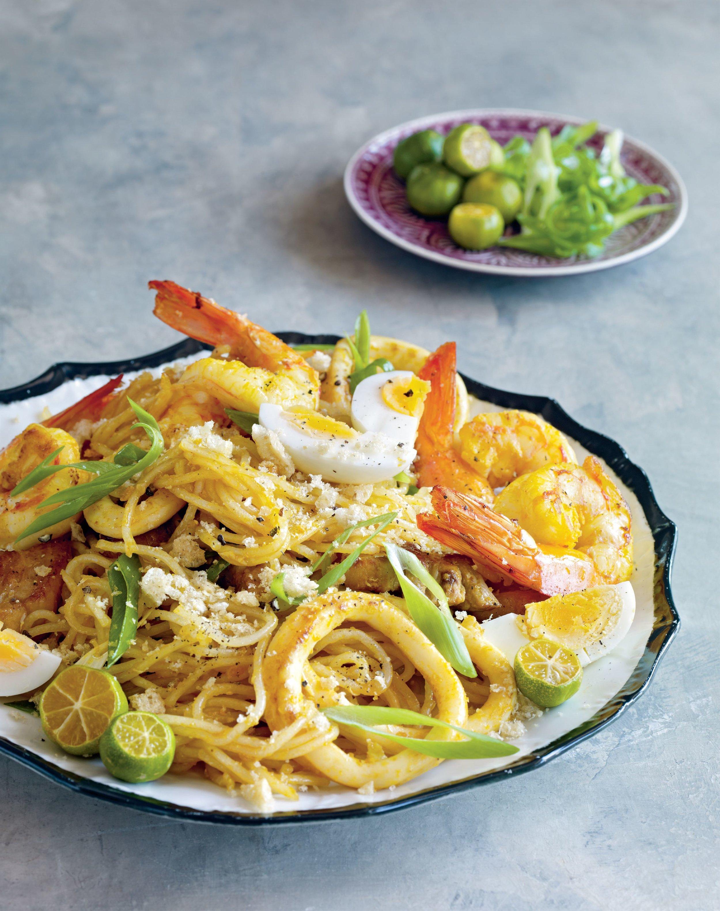 Pancit palabok   7000 Islands cookbook