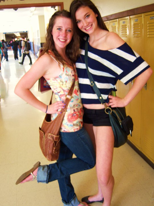 a friend and I, end of junior year of high school. 2011.
