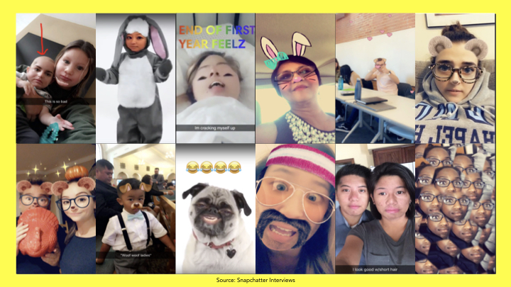 Lens use case from Snapchatter interviews