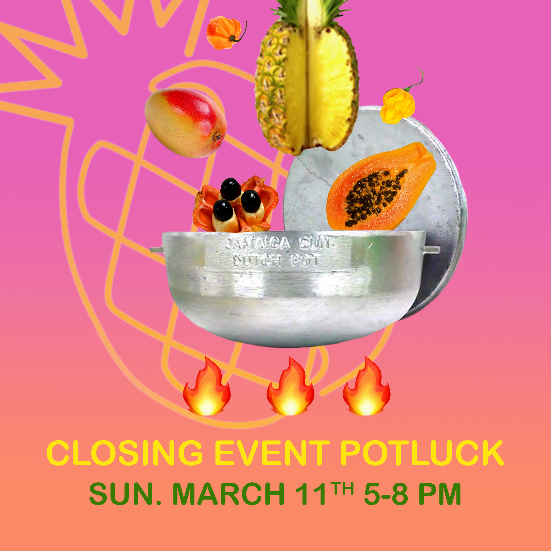 """PARADICE PALASE invites you to join us for the closing reception of """"It Just Sort of Happens One Day"""".  Featuring work from Nick Alciati, Tiffany Smith, David Nelson Art, Valery Jung Estabrook, Estefania Velez, and Eleni Zaharopoulos.  Sign up to bring a dish  HERE   5 - 8 PM Potluck hosted by Tiffany Smith Theme: foods that remind you of """"home"""" Dinner: 5:00-6:30pm, self serve 6:30-8:00pm"""