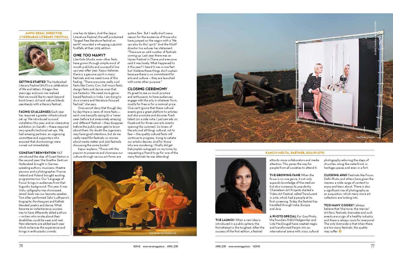 Goa Photo, Verve Magazine, April 2015
