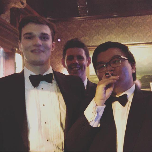 With the Roman boys 💜💛