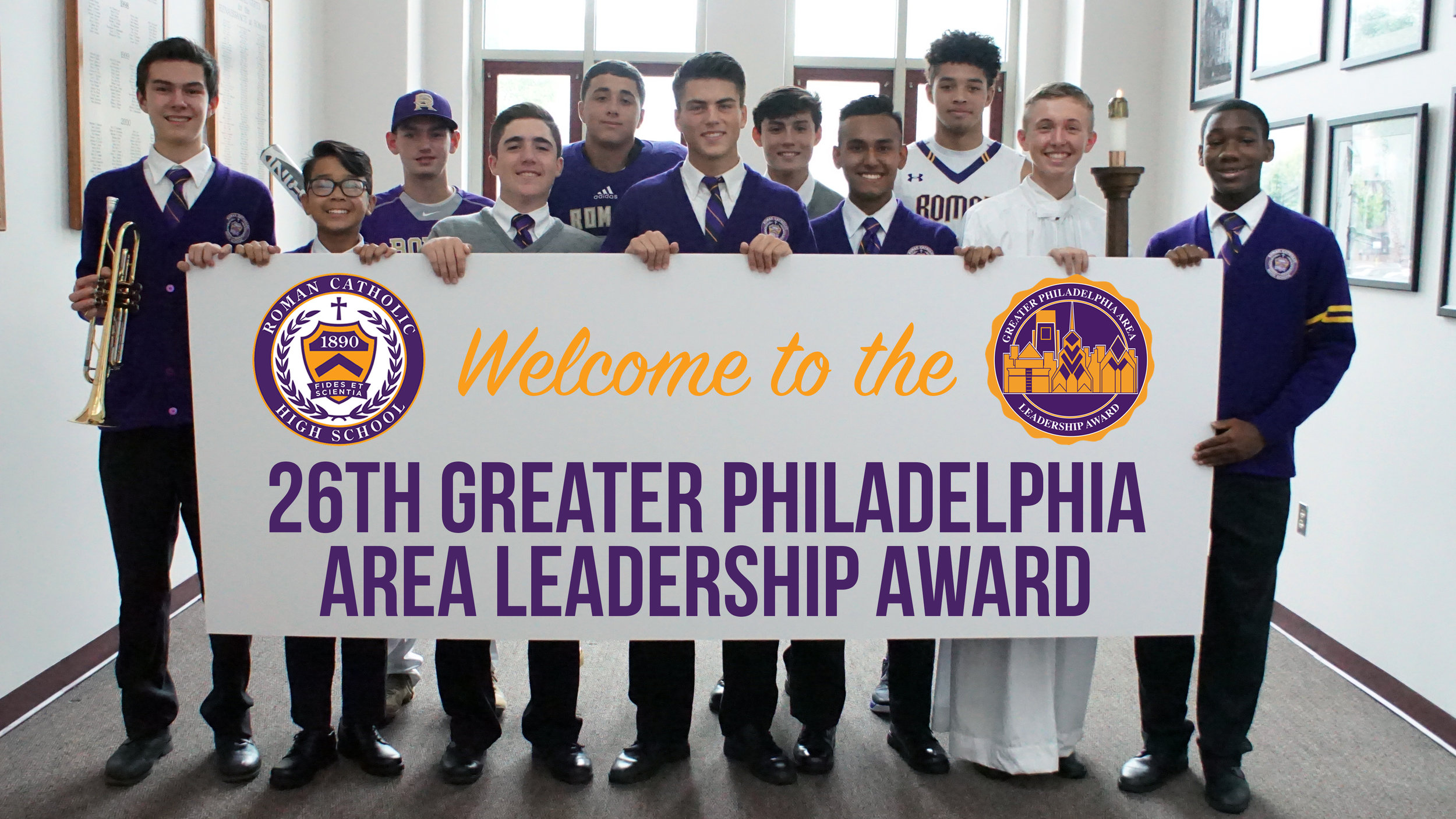 Introduction Photo for 26GPALA Event Presentation  (The Photo is provided by Roman Catholic High School Office of Admissions. The 26GPALA logo and RCHS logo are copyright of Roman Catholic High School)