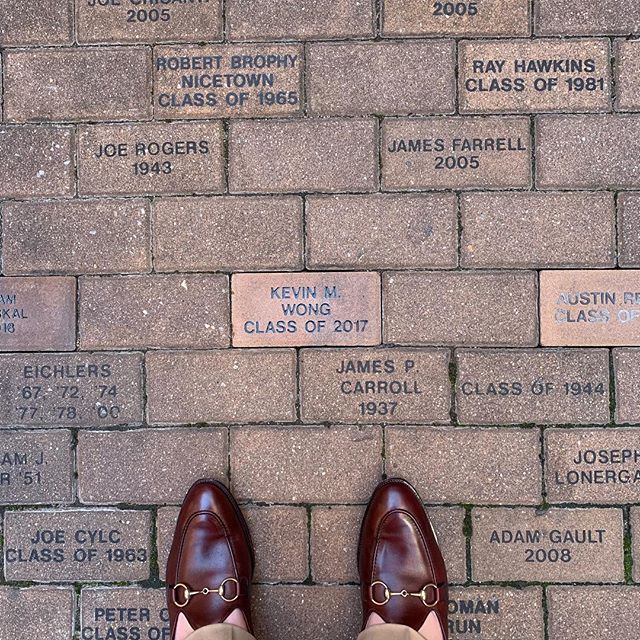 finally found my brick... also, back at catholic high for homecoming