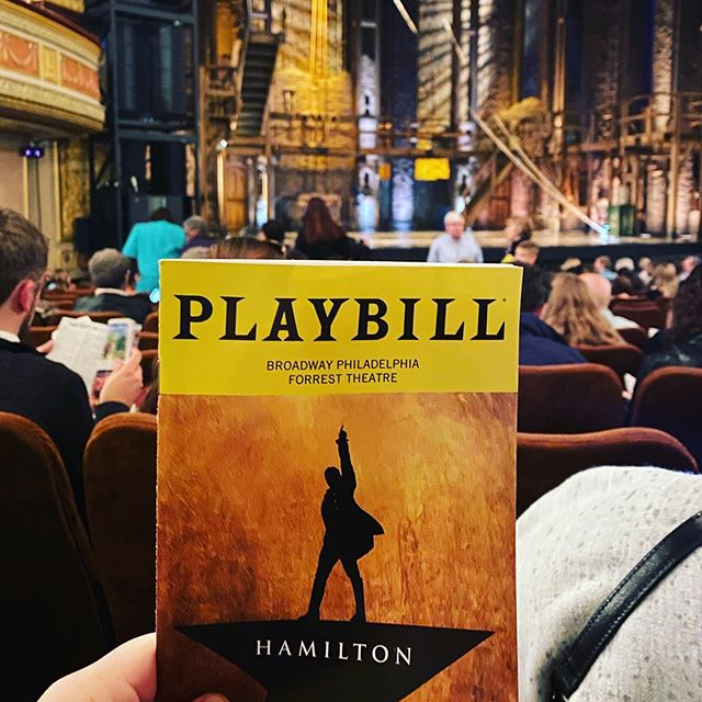"""I've always wanted to see a show written by Lin Manuel Miranda ever since his first Musical, """"In the Heights"""", came out. Today, I'm seeing Hamilton and I'm HELLA excited! 🎭"""