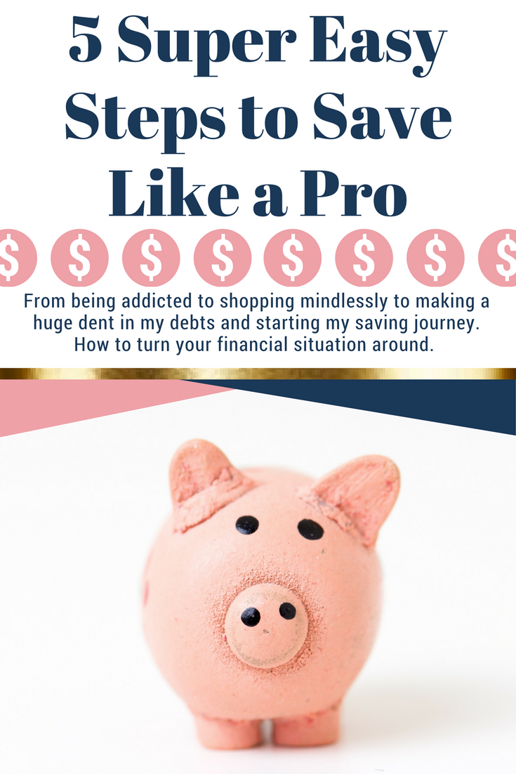 We all want to be better with money and these are the 5 steps I took to stop spending frivolously and start paying off my debts and save like a pro. Follow these easy steps to start your journey to financial freedom.