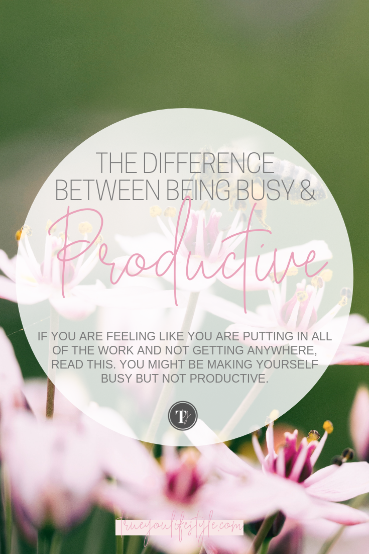 The Difference Between Being Busy and Productive