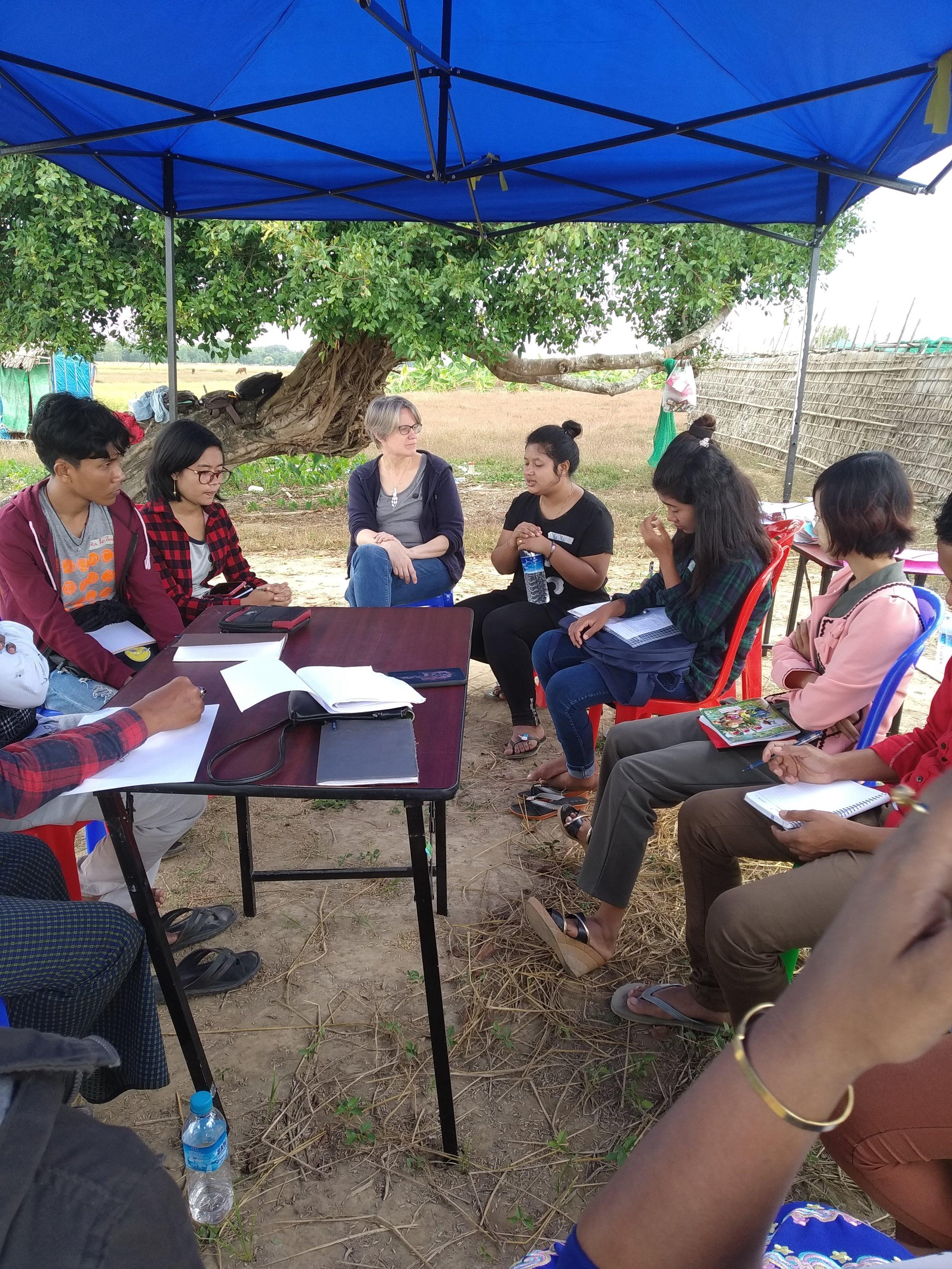 Recent dialogue workshop in Myanmar.