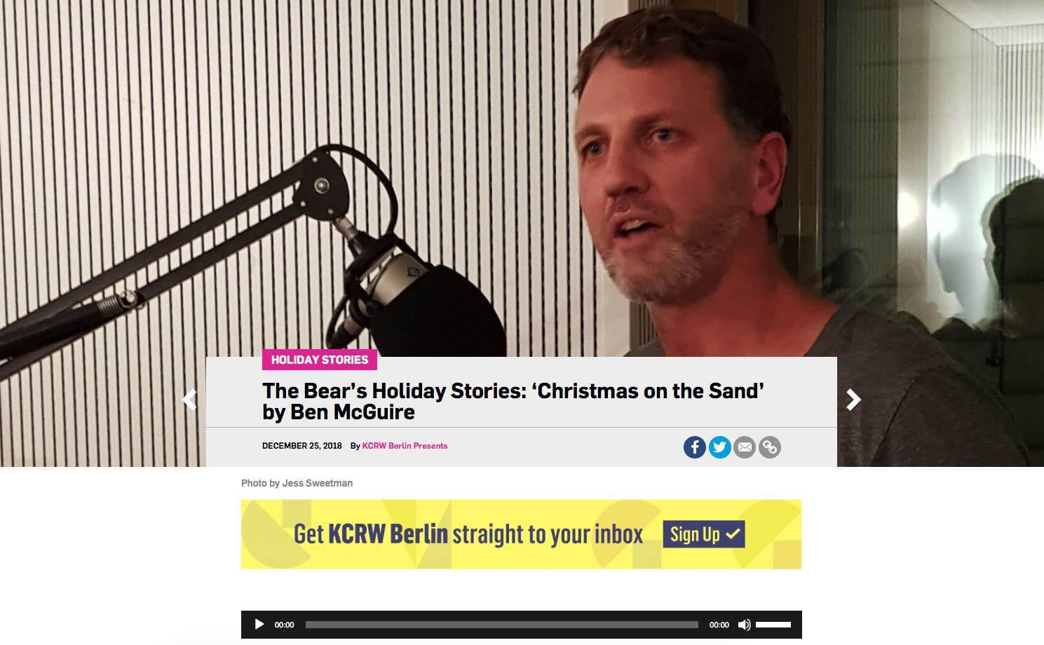 Ben at The Bear on KCRW Berlin Radio.