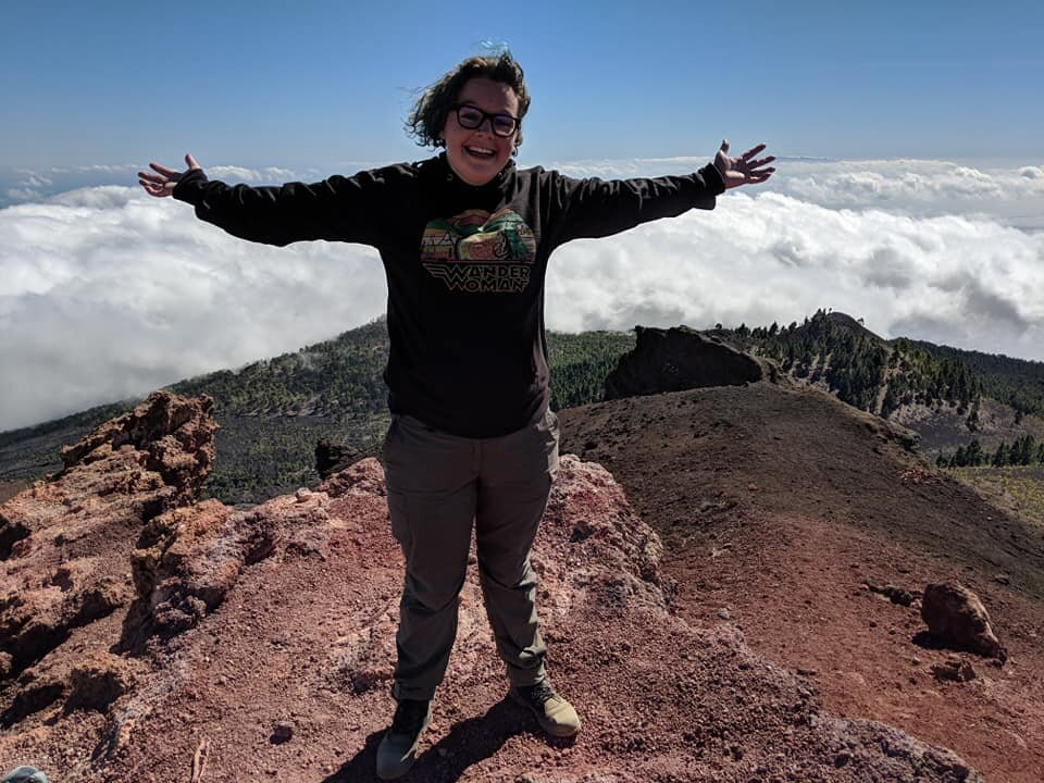 On top of the world on a volcano in the Canary Islands.