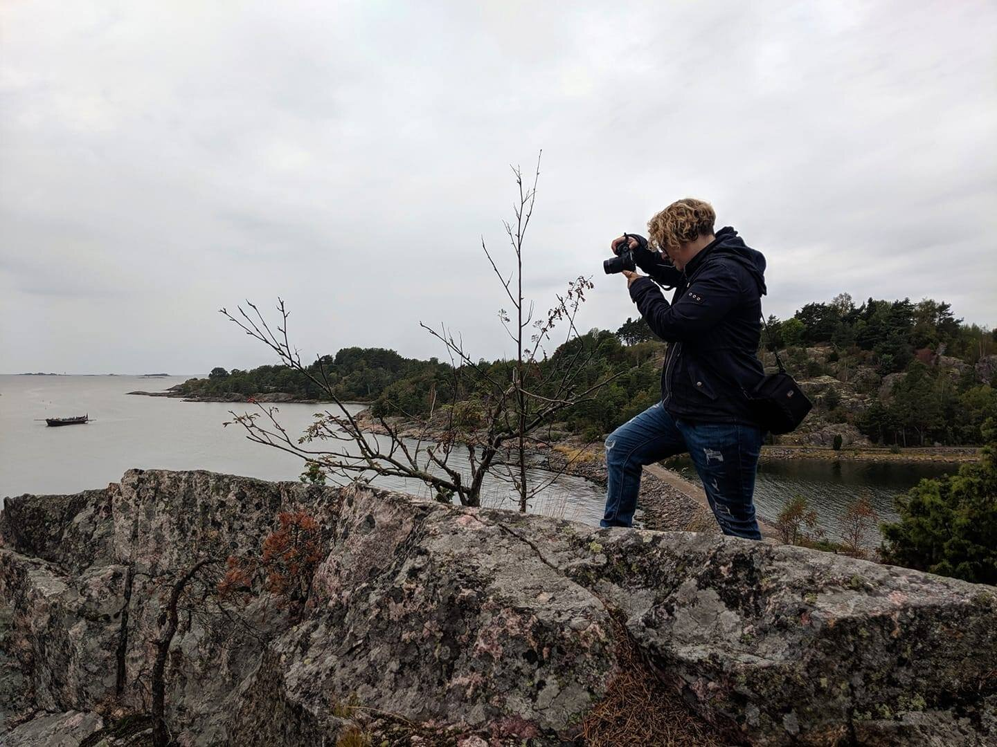 Photographing the sea in Finland.
