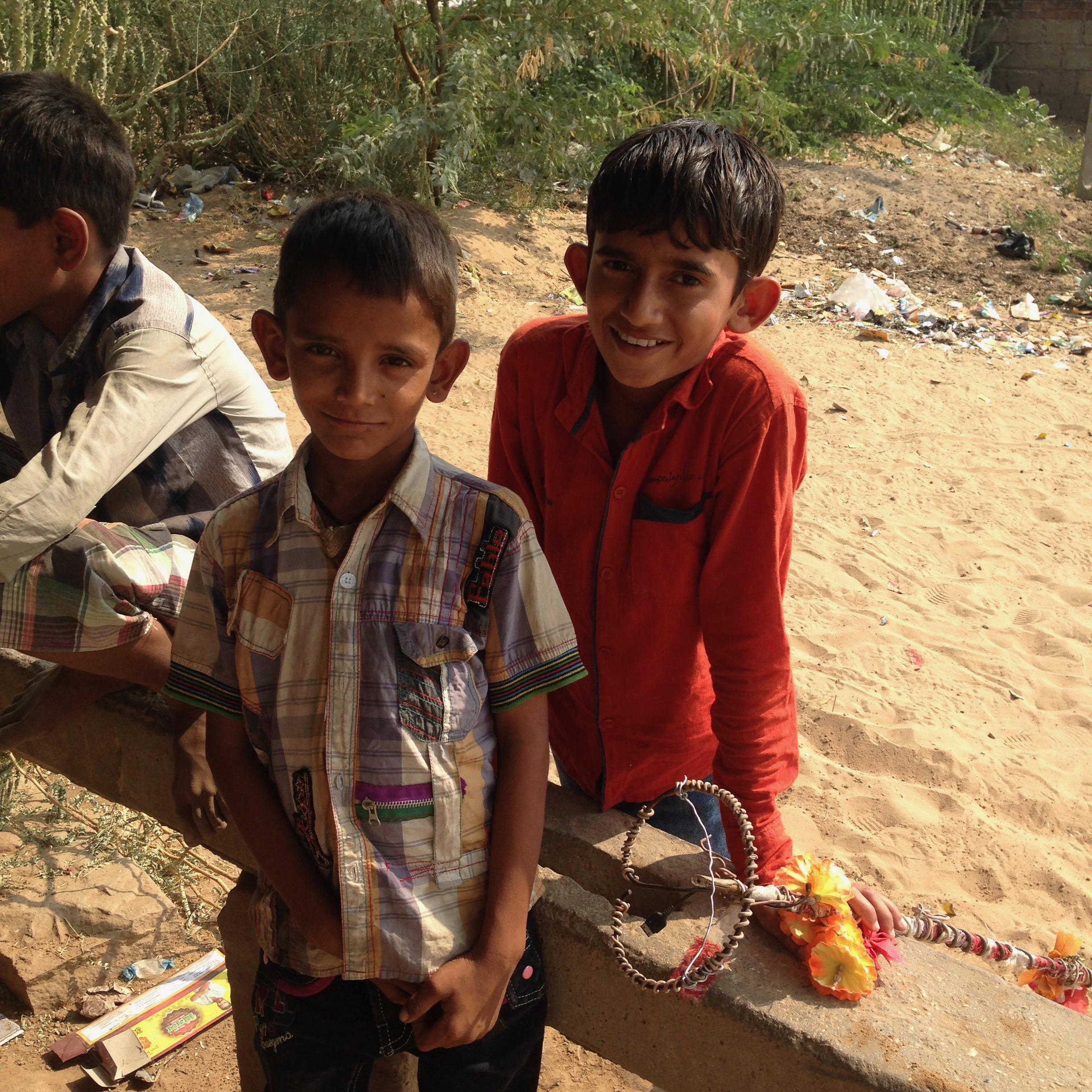 Boys - trainee pimps, Wadia village, Gujarat, India