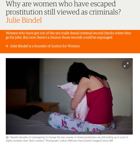 Why are women who have escaped prostitution still viewed as criminals?   Julie Bindel