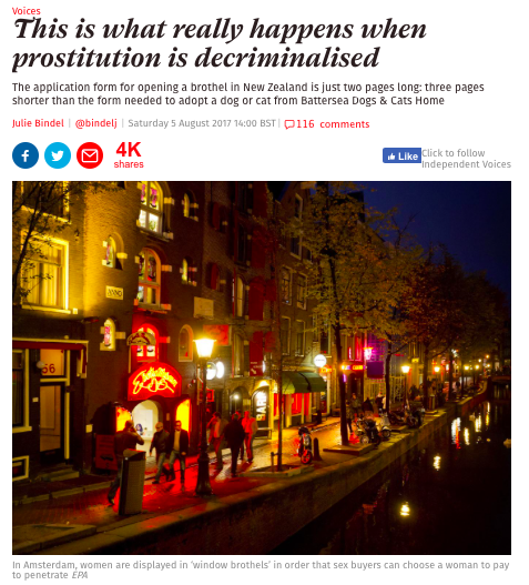 What really happens when prostitution is decriminalised