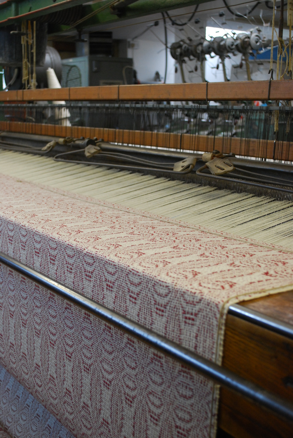 6 bedspread on the loom.JPG