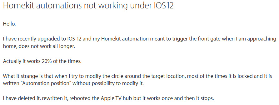 Apple support post