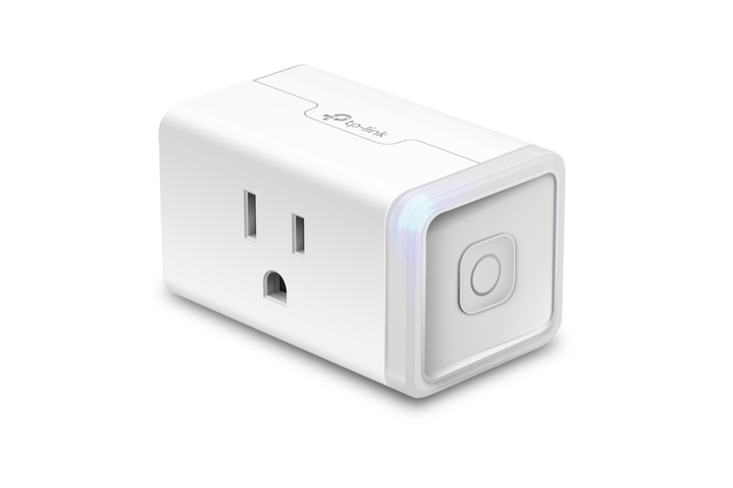 Kasa Smart Plug - 100-120V, 1800W, WiFi, manual button, compact stackable designBuy: Amazon