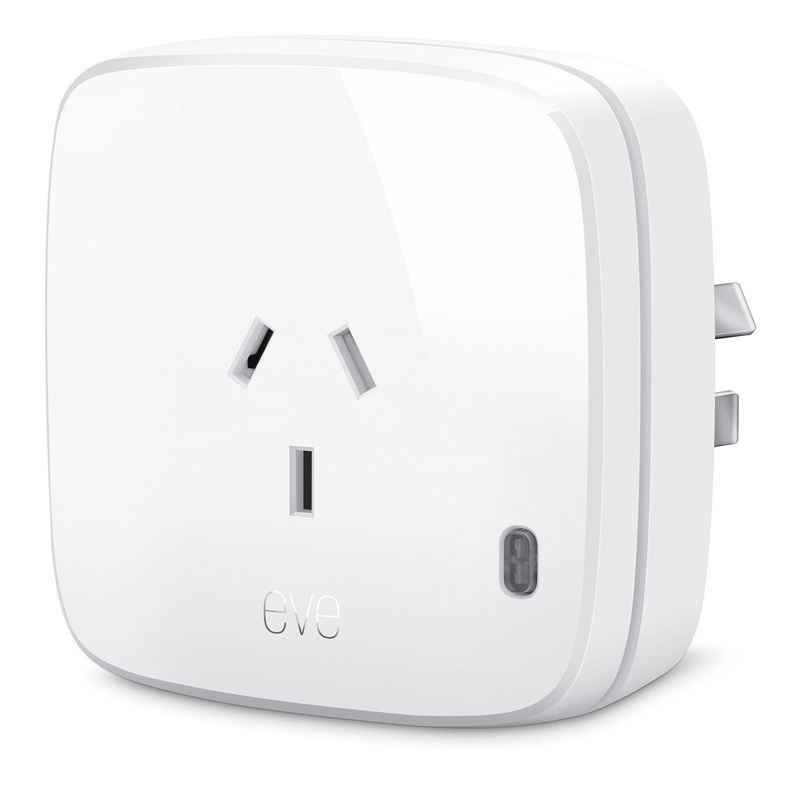 Eve Energy - 100-240V, 1840W, Bluetooth LE, manual switch, consumption monitoring.Buy: Apple, Direct