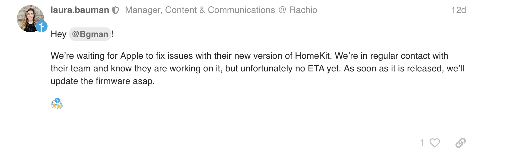 Rachio Support Update post