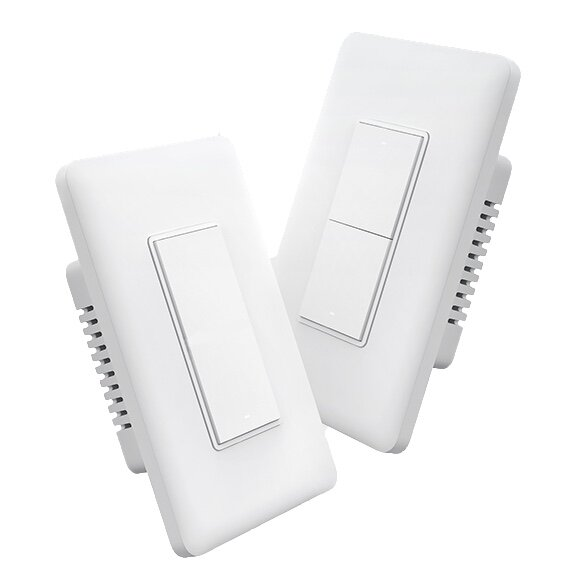 Aqara Smart Wall Switch - ✔ Neutral and No Neutral Options✔ Supports Alexa, Google, and HomeKit✔ Easy Installation✔ Works with LED lights✘ ZigBee powered, needs a hub✘ Only comes in white