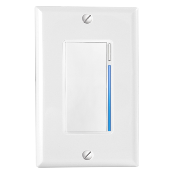 Inovelli Z-Wave Switch - ✔ Higher Security than WiFi✔ Works with most LED bulbs✔ Can work with neutral wire as well as without✔ Customizable LED indicator✔ Various paddle colors✔ Can be used in 3-way setup✘ Needs a Z-Wave hub