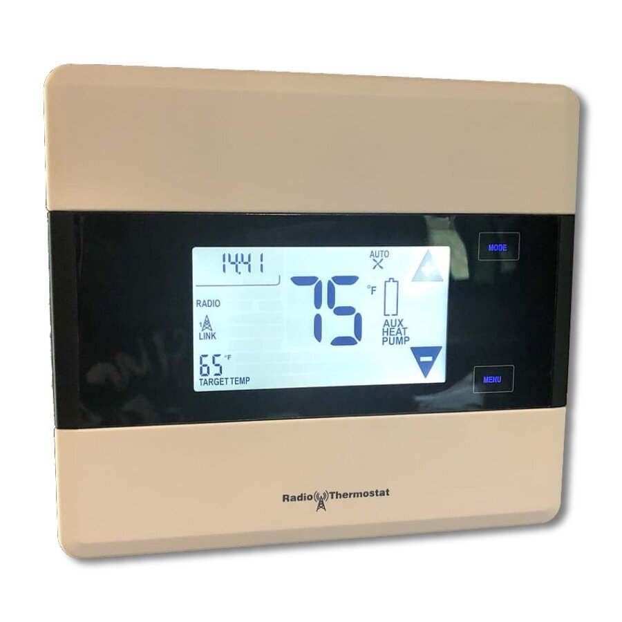 Radio Thermostat CT101 - ✔  C-Wire and Battery powered✔  Supports 2-stage heating/cooling✔  Supports 2-stage heat pumps✔  Humidity sensor✔  Easy battery/wiring access ✘  Z-Wave compatibility issues✘  Not Z-Wave Plus