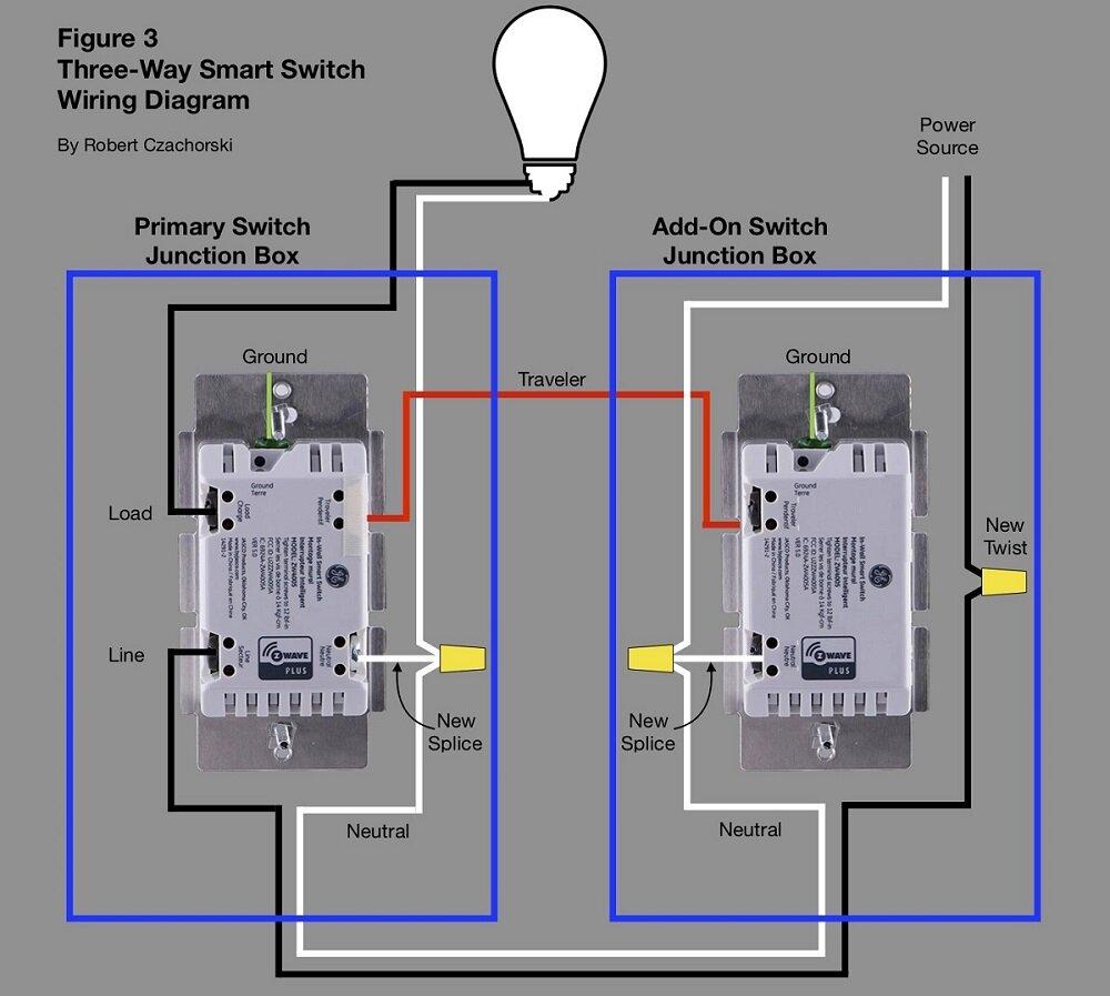Three Way Smart Switch Wiring Diagram